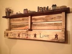 Love this, don't want those words though. Words, but not those ones. Would be good sanded down, painted and distressed