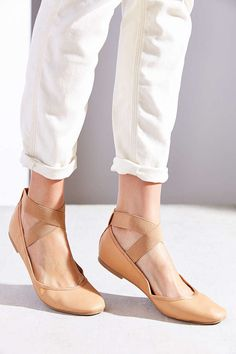 Kimchi Blue Elastic Cross-Strap Flat - Urban Outfitters $19