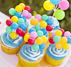 decoracion infantil cupcakes