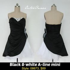 This cute black & white homecoming dress also has a hint of polka dots for extra fun, as well as its unusual look! Bi-Color Waist Flowers Short Homecoming Dress Style Code: 08673 $89 Order yours here: http://www.outerinner.com/bi-color-waist-flowers-short-homecoming-dress-pd-08673-0.html?k=08673 #homecomingdresses #outerinner #dresses