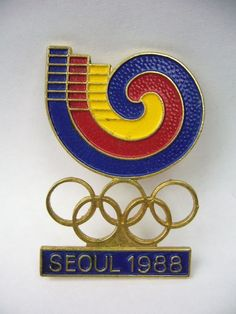 1988 seoul olympic pin   logo - large from $6.0