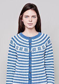 """""""Fana"""" kofte med rundt bærestykke pattern by Sandnes Garn Finger Weights, Knitting, Pattern, Sweaters, How To Wear, Arrow Keys, Close Image, Design, Fashion"""