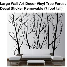 Forest wall decal.