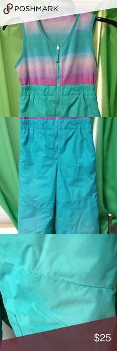 Columbia Snowpants Columbia Snowpants with fleece top. Zip up. Slightly worn on knees. These are used but in great condition. Size 4/5. Columbia Jackets & Coats Puffers