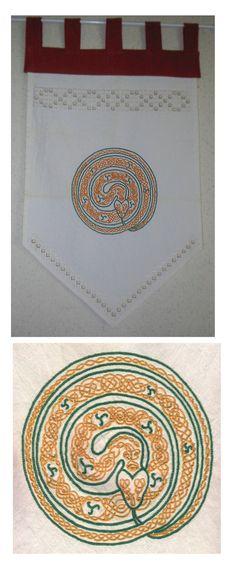 bannière ouroboros celtique pour mon homme