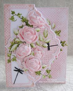 """Hello Everyone, Sharing my DT samples for Tattered Lace """"Petals Of Lace Collection"""" Launching on Create and Craft TV Thursda. Wedding Cards Handmade, Handmade Gift Tags, Beautiful Handmade Cards, Create And Craft Tv, Heartfelt Creations Cards, Tattered Lace Cards, Shabby Chic Cards, Birthday Cards For Women, Shaped Cards"""