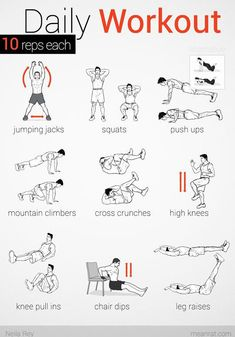 the daily workout no equipment