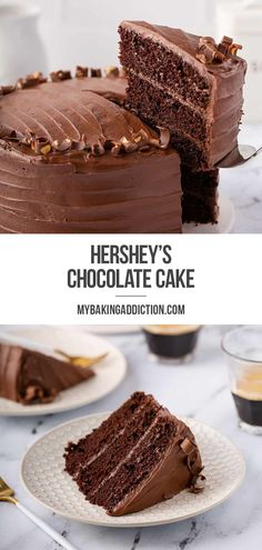 Hershey's Chocolate Cake is easy to make and satisfies chocolate cravings for any chocolate lover! Whether you're making a layered cake, sheet cake or bundt cake, you'll use this recipe again and again.