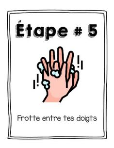Hand Washing Steps en Français! by Mademoiselle Ave   TpT Type Posters, France, Teacher Hacks, Teacher Newsletter, Hand Washing, Back To School, I Am Awesome, Hands, Teaching