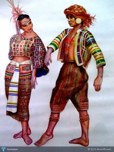 Philippines Tribal Costume - Painting by Arnel Roselo in My Projects at touchtalent Tribal Outfit, Tribal Costume, Tribal Print Dress, Tribal Prints, Filipino Art, Filipino Culture, Filipino Tribal, Philippine Mythology, Philippine Art