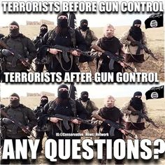 The only difference is that the people they are targeting have no protection after gun control. And that equals dead people.