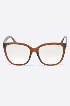 Okulary przeciwsłoneczne z kolekcji Polo Ralph Lauren. Model z lustrzanymi szkłami i oprawkami z tworzywa. Posiada filtr UV 400.