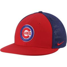 Nike Chicago Cubs Red Royal True Vapor Swoosh Performance Flex Hat 8453d7190ff