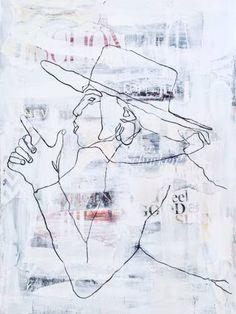 Original Women Collage by Sheida Samyi Canvas Paper, Canvas Art, Original Paintings, Original Art, Visual Comfort, Marker Art, Painted Paper, Artwork Online, Buy Art