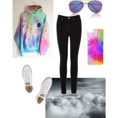 tie-dye sweatshirt set ♡♡!._. by loverofeverything8infinite on Polyvore featuring polyvore fashion style Oasis Converse Express CellPowerCases