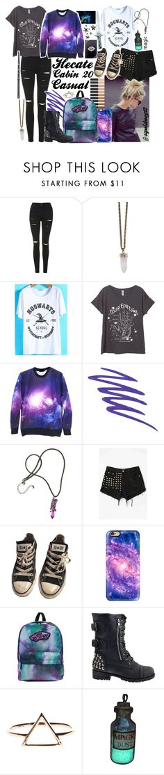 """""""Hecate cabin 20:casual//RTD"""" by squidney12 ❤ liked on Polyvore featuring Topshop, NARS Cosmetics, Givenchy, WithChic, Converse, Casetify and Vans"""