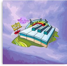 #ColorfulPianoKeys #PurpleAbstract #MediumCanvasPrint by #MoonDreamsMusic