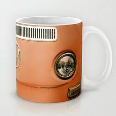 Summer of Love - Celosia Orange Mug by Olivia Joy StClaire - $15.00 VW mug, VW, volkswagen, retro, gift, vintage, cute, Pantone celosia orange, spring, trendy