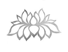 Lotus Rubber Stamp // Small Medium Large sizes // by tripolo