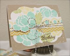 I am in love with the Rosie Posie die and stamp set from Paper Trey!
