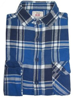 Mens Blue Check Print Long Sleeve Casual Shirt  #instagram #onlinestore #canadaonline #fashion #shoppingonline #shopping #fashionstyle #kidsclothes #canada #instalikes