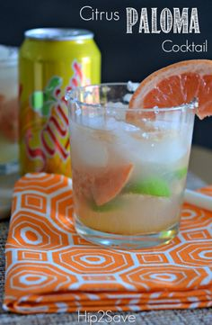 Citrus Paloma Cocktail (Summer Drink Series) Citrus Paloma Cocktail (Sommergetränkserie) Best Of Tips, Recipes, Crafts & Tequila Drinks, Cocktail Drinks, Fun Drinks, Cocktail Recipes, Drink Recipes, Alcoholic Beverages, Refreshing Drinks, Party Drinks, Mixed Drinks
