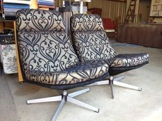 Two swivel chairs get an update.