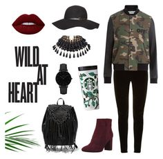 """Wild At Heart"" by sini-harju on Polyvore featuring Steve Madden, Balmain, Dorothy Perkins, Off-White, Nine West, CLUSE and StreetStyle"