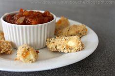 Mozzarella sticks with balsamic tomato jam - Amuse Your Bouche