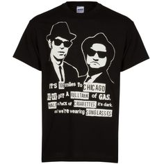 Chicago Men's Black Blues Brothers Tee by Clark Street Sports Chicago Shirts, The Blues Brothers, Saturday Night Live, Tee Shirts, Tees, White Ink, Snl, Mens Tops, How To Wear