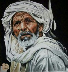 arabian, old man, and art image
