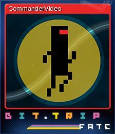 Cromo de Steam «CommanderVideo» de BIT.TRIP FATE