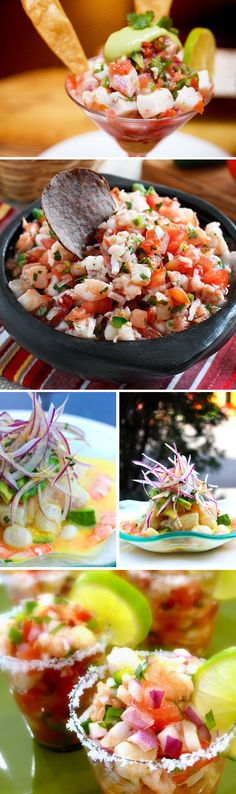 """No link. Just sharing this """"ceviche appreciation post"""". I will pin a recipe when I've found one that I like. (Connie)"""