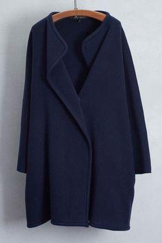 Navy Cocoon Overcoat by Ter et Bantine | shopheist.com