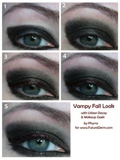 Vampy Fall Look Tutorial. click through to see!
