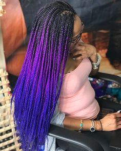 Long Box Braids: 67 Hairstyles To Upgrade Your Box Braids - Hairstyles Trends Blonde Box Braids, Short Box Braids, Braids For Black Hair, Purple Box Braids, Ombre Box Braids, Tree Braids Hairstyles, Braided Hairstyles For Black Women, Colored Box Braids, Curly Hair Styles
