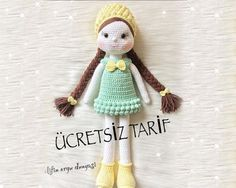 PITIRCIK KIZ amigurami yapılışını sizlerle paylaşmak istedim amigurami yap… I wanted to share the PITIRCIK GIRL amigurami with you. I wanted to share the amigurami with you. Crochet Dolls Free Patterns, Crochet Motifs, Amigurumi Patterns, Amigurumi Doll, Crochet Toys, Crochet Baby, Album Design, Crochet Christmas Hats, Lol Dolls