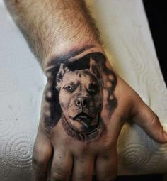 Pitbull tattoo