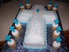 1st First Holy Communion Cross Cake