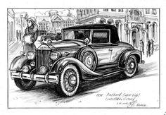 машина Паккард 1930 годы винтаж ретро от VladimarinaHandmade
