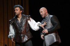 Jonas Kaufmann (Otello) and Marco Vratogna (Iago) v.li. Photo: Patricia Sigerist