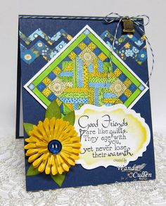 Wanda Cullen: Cullen-ary Creations – It's Time to Look Back at ODBD's September Release - 9/19/14  (ODBD stamps: Quilts. ODBD Dies: Vinage Labels/ Aster)
