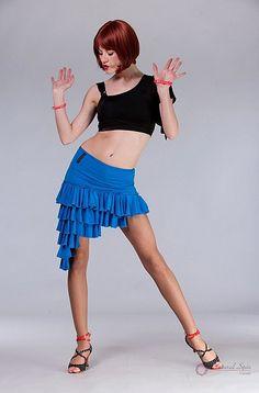 Natural Spin Signature Dance Tops(Short Sleeve): LT71_Black