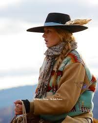 Side braid with a cowboy hat