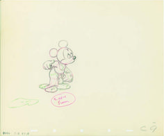 Production Drawing of Mickey from Fantasia