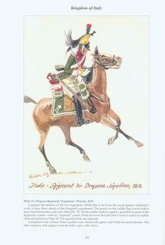 """Regno d'Italia - Reggimento Dragoni """"Napoleone"""", Soldato, 1812"""