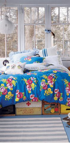 Blue Countryside Bedding #kids #rooms