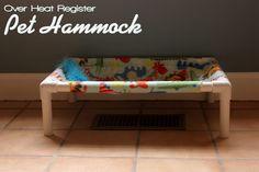 DIY Over Heat Register Pet Hammock