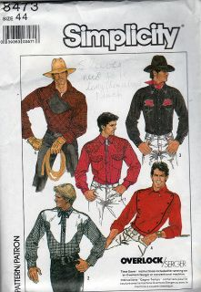 Simplicity 8473; ©1987; Men's Fitted Shirt.