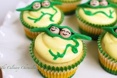 Two Peas in a Pod cupcakes